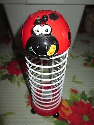 Child's Novelty Ladybird Cd Storage Rack + 1 Rack Free
