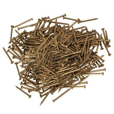 300Pieces Brass Furniture Round Head Archaize Pure Copper Nail 18x2.8mm