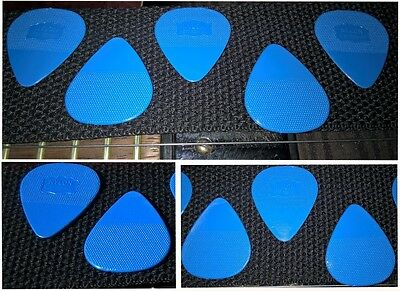 (5x) Herdim picks - Plettri Herdim (west germany) - used by The Edge U2. (Duro)