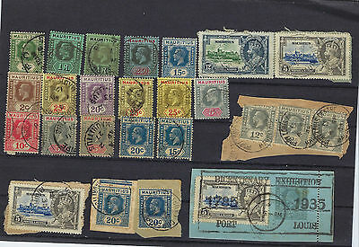 Timbre Mauritius/ile Maurice Timbre Georges 5 Lot Timbres Obliteres