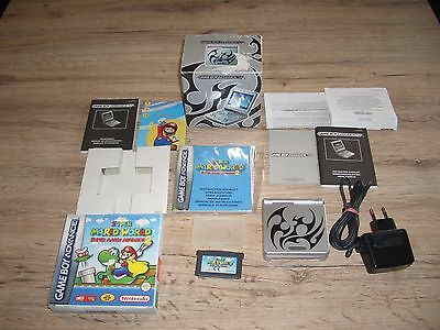 Gameboy Advance SP  AGS 101 TRIBAL Mit SUPER MARIO WORLD 2 Alles OVP !