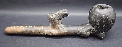 Rare Mayan Maya Effigy Pipe With A Hare 900-1600 Ad