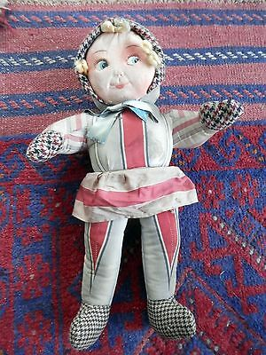 VINTAGE CLOTH RAG DOLL  from 1940s/1950s