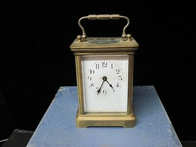 French Carriage Clock, Early, Brass