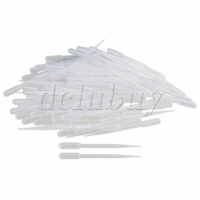 New 100Pcs 3ML Disposable Pipet Droppers Transfer Pasteur Pipettes Plastic