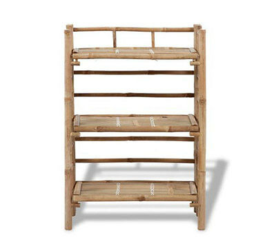 Garden Planter Stand 3 Tier Rack Flower Pot Outdoor Storage Shelf Bamboo Display