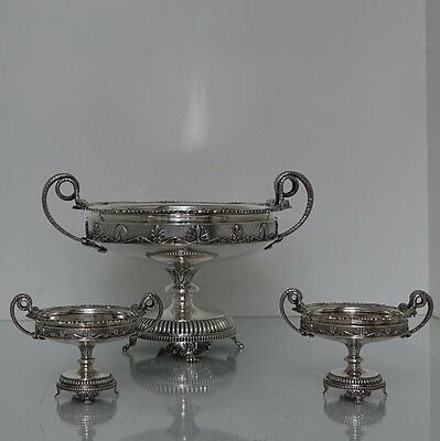 Early 20th Century Suite of Three Sterling Silver George V Dishes Sheff 1918/9/