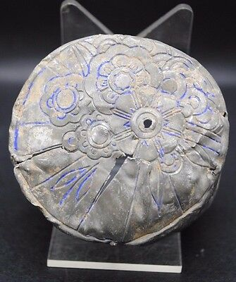 Tudor Period Floral Embossed Dish 16Th Century Ad