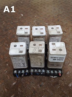 Allen-Bradley 700-HA32Z24 Series C Ice Cube Relay and Socket 24VDC -lot of 6