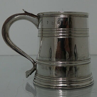 Early 18th Century Britannia Silver Queen Anne  Mug London 1711 Joseph Clare