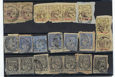 Timbre Mauritius/ile Maurice Lot De Timbres Armoiries  Rares Obliterations