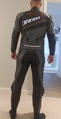 Dainese GTR armour leather Motorbike 2 piece suit.TOP CONDITION  M / L Size 52