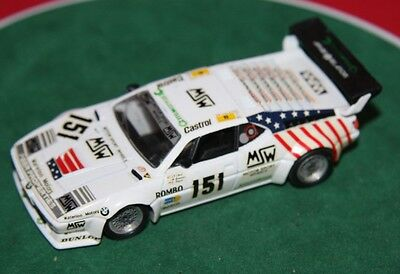 SOLIDO No 1031 1/43 BMW M1 #151 H. GALL MSW LE MANS 1985 DIECAST MODEL CAR DECAL