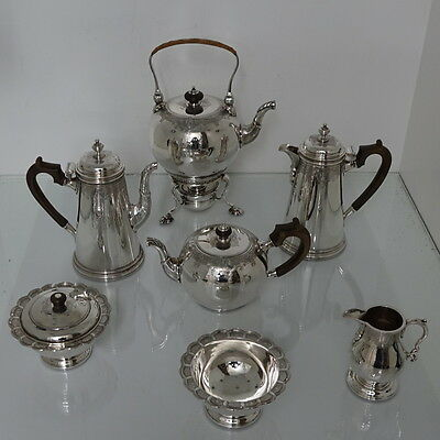 George V Antique Sterling Silver 7 Piece Tea & Coffee Set London 1930 Crichtons
