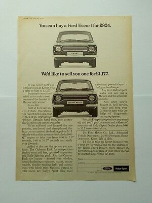 Ford Escort Mexico Advert from 1972 - Original Advertisement Ad - Rallye Sport