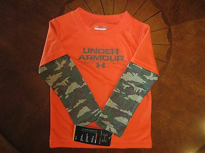 UNDER ARMOUR BOYS'/GIRLS' CAMO LONG SLEEVE SLIDER/SHIRT [ 2-IN 1 ] Size 3T; NWT