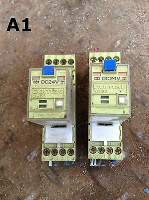 Comat Swiss C7-T21 DX Ice Cube/Plug-In Relay and Socket 24VDC 250VAC -Lot of 2