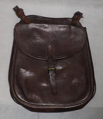 """Superb Army Military Leather Saddle Bag-""""D.M 1945"""" Broad Arrow Stamped"""