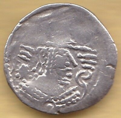 Ancient India Silver Coin King Potrait #i7