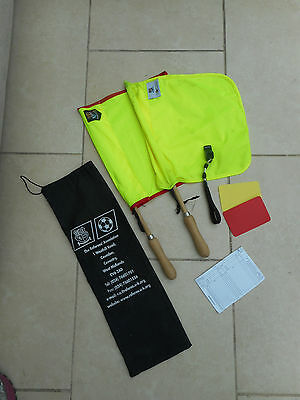 The Referees Association Kit . Flags,whistle,cards ,book  In Bag