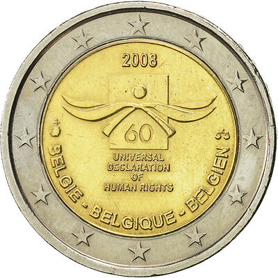 [#466038] Belgique, 2 Euro, Universal Declaration of Human Rights, 2008, SPL