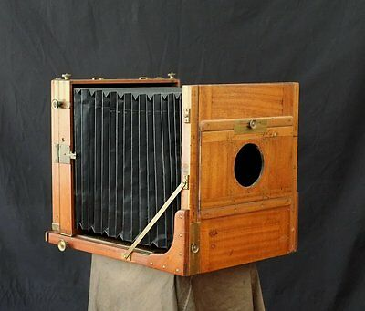 stunning!! Antique 10x12 Field Camera Holzkamera Vageeswari 25x30 ULF wet plate