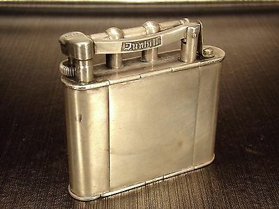 "RARE briquet lighter Alfred DUNHILL ARGENT SILVER ""Vanity"" 1928"