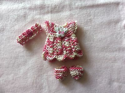 hand knitted dolls clothes to fit 7 inch doll