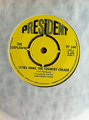 THE EXPLOSIVE - 'Cities Make The Country Colder' UK President psych mint issue