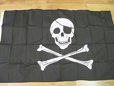 Pirate FLAG Skull and Crossbones Large 5x3' Size