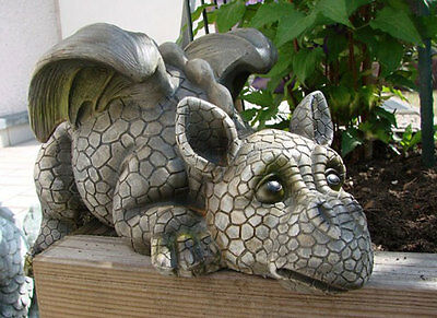 Garden Ornament Baby Dragon Patio Statue Outdoor Decoration Sculpture Animal New