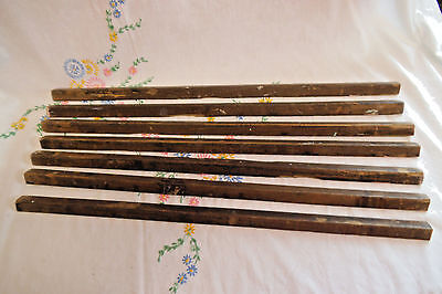Seven Vintage Wooden Stair Carpet Rods - Useful Spares