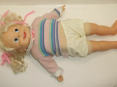 """Vintage 1986 Cricket Doll by Playmates- Cassette Player Works 25"""""""