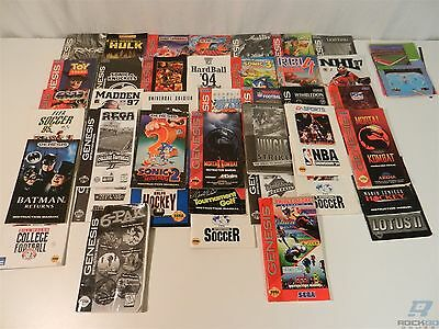 Lot of 40 Sega Genesis Game Manual Instructions Only - Mortal Kombat, Batman