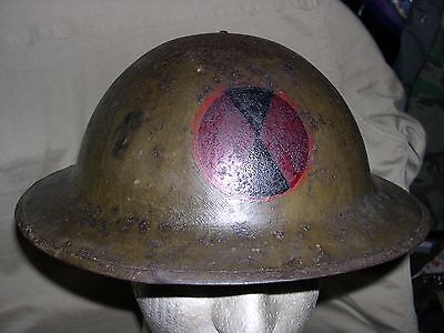 Wwi British Made Helmet, 7Th Div. Insig. On Front, Used, W/liner, An Chin Stp G