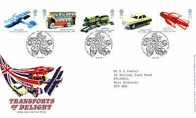 18 September 2003 Transports Of Delight Royal Mail First Day Cover Bureau Shs