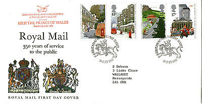 30 July 1985 Royal Mail 350 Years Flown Royal Mail First Day Cover Bagshot Shs