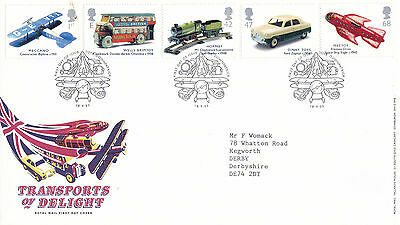18 September 2003 Transports Of Delight Rm First Day Cover Toye Downpatrick Shs
