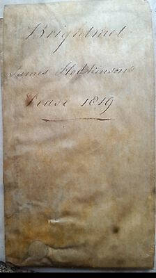 1819 vellum indenture manuscript bolton 14th earl of derby