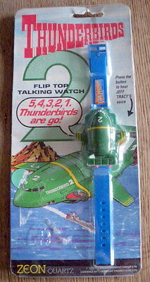 Thunderbirds - TALKING WATCH with T2 FACE Rare