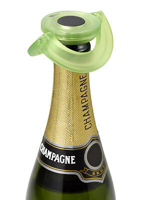 Adhoc Champagne Stopper Green Bottle Stop Leakproof Airtight Refrigerate Storage