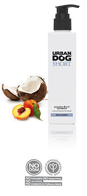 SHAMPO E BALSAMO naturale URBAN DOG specifico per cani a PELO CORTO da 200ml