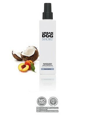 SHAMPO SPRAY SENZA RISCIACQUO  naturale URBAN DOG specifico PELO CORTO da 200ml