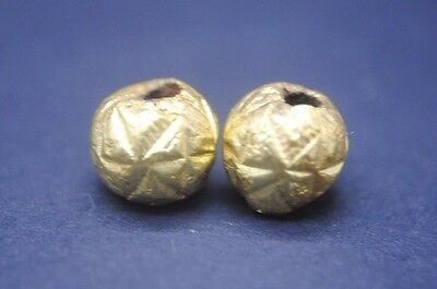 Two Ancient Egyptian Gold Beads