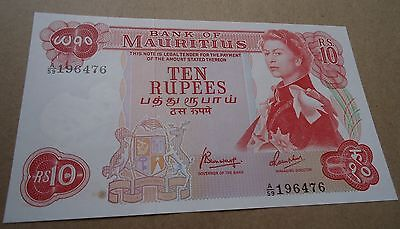 Mauritius Ten Ruppes 1967 Pick 3 31 Gem Unc Scarce No Reserve!