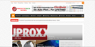100% Automated Established TECH NEWS Website for sale - Profitable Turnkey Blog