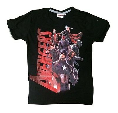 New Summer Teenage Boy T-Shirt Avenger Size 8-12