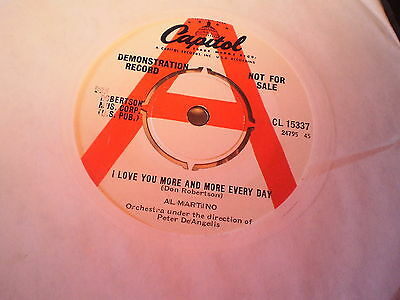 Al Martino - I Love You More And More Every Day - Uk Capitol Demo 45
