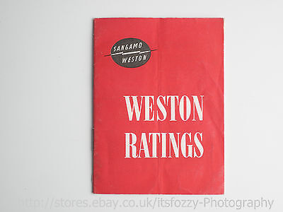 Weston Ratings Booklet, English, German, French & Spanish Introduction