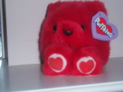 PUFFKINS ~KISSES Love Bear #6680 Plush NWT By Swibco